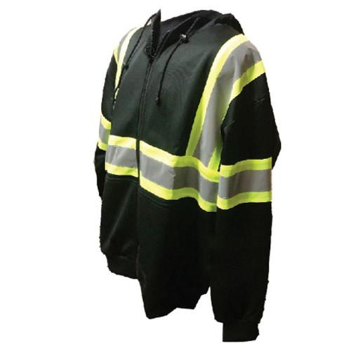 Forester Single Weight Class 1 Black Zippered Hooded Sweatshirt