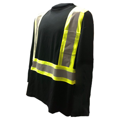 Forester Class 1 Reflective Safety Long Sleeve Shirt - Black