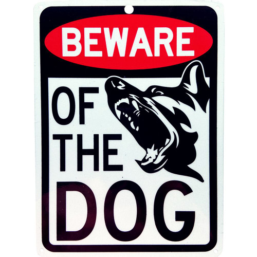 """Forester 7"""" x 10"""" Reflective Aluminum Sign - Beware of the Dog"""