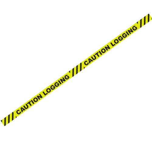 "1000' x 3"" Caution Logging Yellow Barricade Tape"