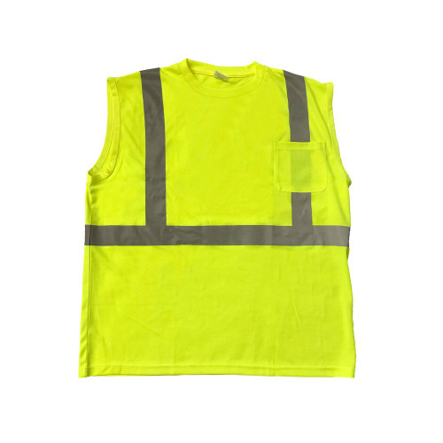 Forester Hi-Vis Class 2 Reflective Safety Sleeveless Shirt - Safety Green