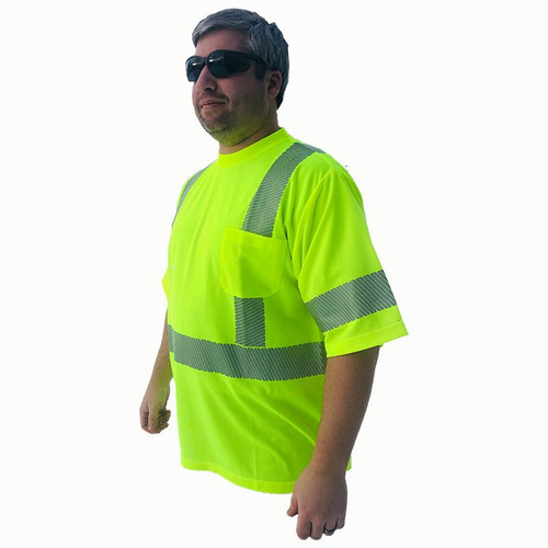 Forester Hi-Vis Class 3 Reflective Safety T-Shirt - Safety Green