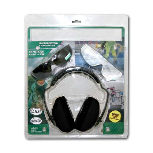 Forester Ear And Eye Protection Kit Bonus Combo - Black Muffs