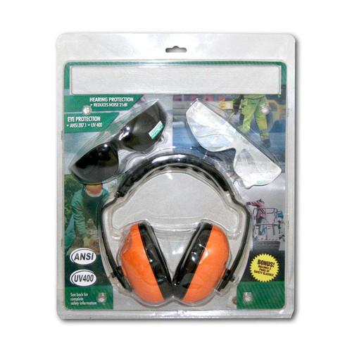 Forester Ear And Eye Protection Kit Bonus Combo - Orange Muffs