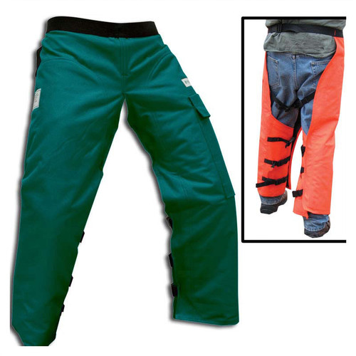 Forester Wrap Around Chainsaw Chaps - Forest Green