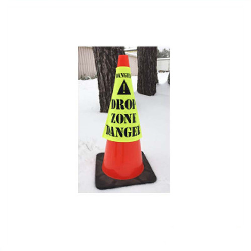 """Forester 16"""" Drop Zone Cone Sleeve Cover - Safety Green"""