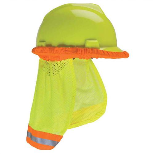 Forester Hi-Vis Hard Hat Sunshade Neck Protection - Safety Green