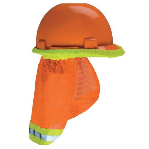 Forester Hi-Vis Hard Hat Sunshade Neck Protection - Orange