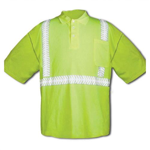 Forester Hi-Vis Class 2 Short Sleeve Polo Shirt - Safety Green