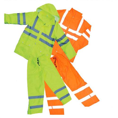 Forester Hi-Vis Lined Class 3 Safety Rain Suit w/ Hood - Orange