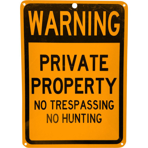 """Forester 7"""" x 10"""" Reflective Aluminum Sign - Warning Private Property"""