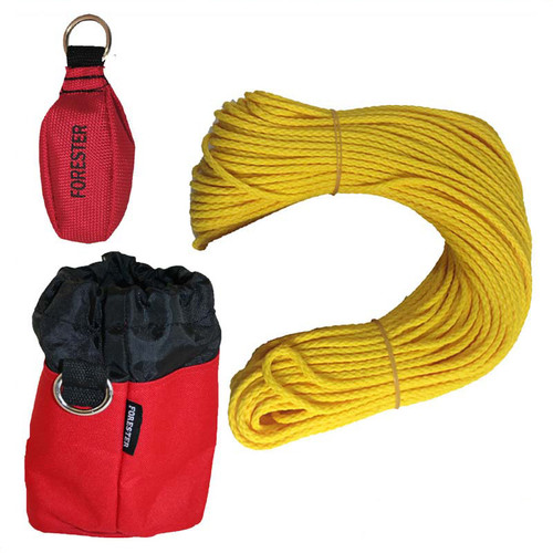 "Forester Professional Polyethylene Arborist Throw Line Kit - 1/8"" x 150' w/ 15oz Throw Bag & Storage Bag"