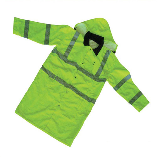 Forester Hi-Vis Extra Long Rain Slicker - Hi-Vis Safety Green