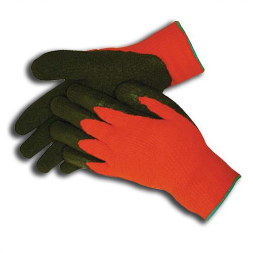Hi-Vis Orange Insulated Rubber Palm Winter Work Gloves - 685003
