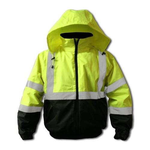 Forester Hi-Vis Insulated Bomber Jacket - Safety Green
