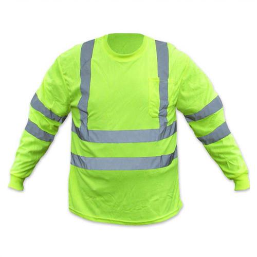 Forester Hi-Vis Class 3 Long Sleeve T-Shirt - Safety Green