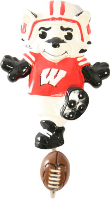 "Wisconsin Badgers 7"" Mascot Wall Hook"