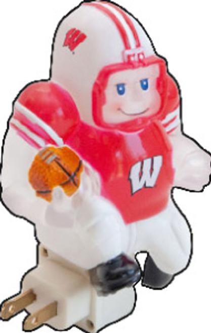 Wisconsin Badgers Football Player Night Light