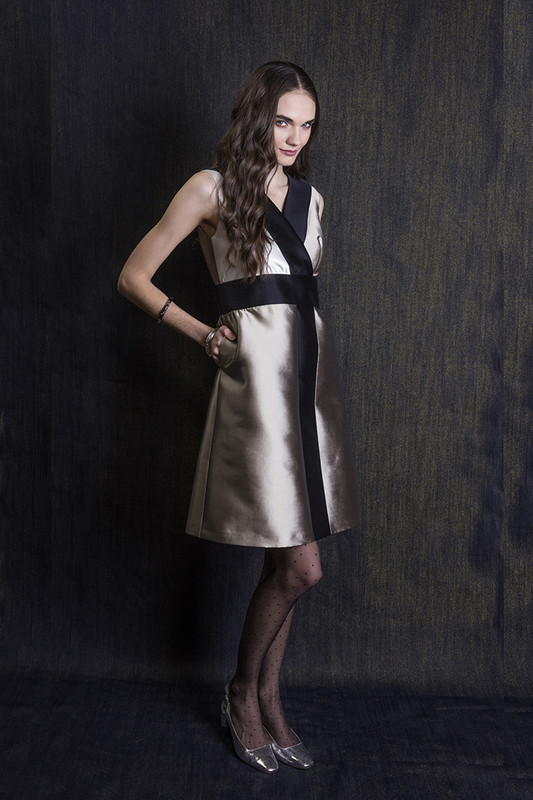 The Sinclair Dress — Champagne