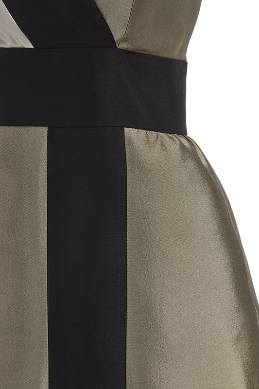 The Sinclair Dress detail — Champagne