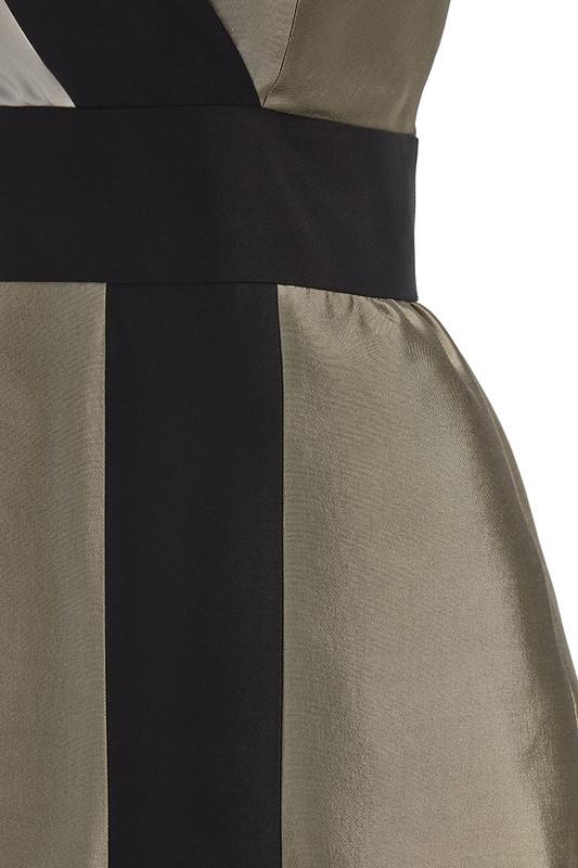 The Sinclair Dress detail — Champagne