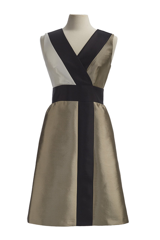 The Sinclair Dress front — Champagne