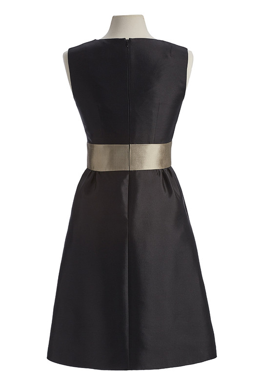 The Sinclair Dress back — Noir