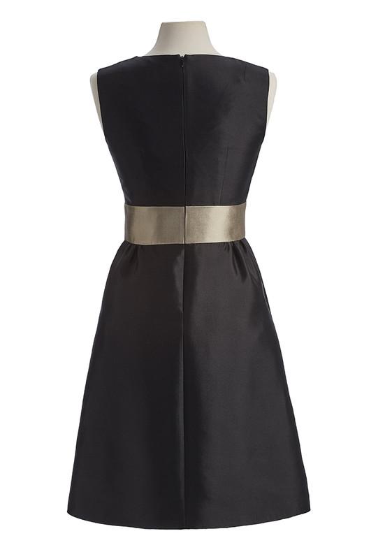 The Sinclair Dress back — Noir