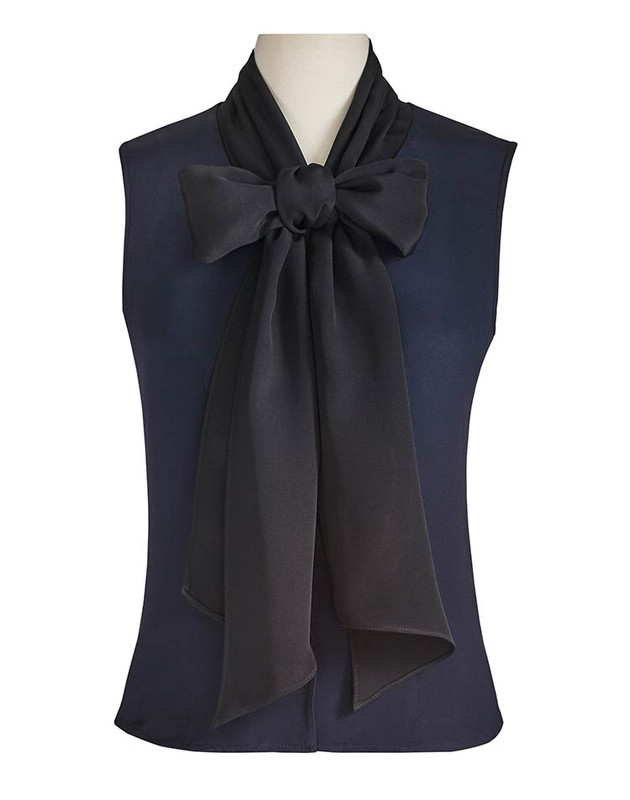 The Lauren Blouse Navy/Black