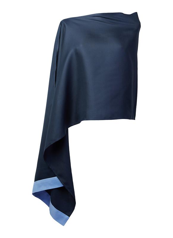 Lo Strato No. 01 Navy/Sky Silk Wool