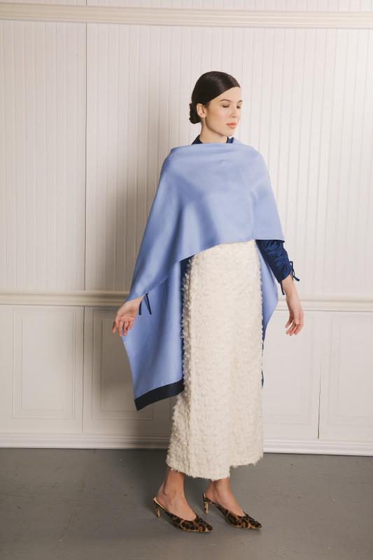 Lo Strato No. 01 Sky/Navy Silk Wool
