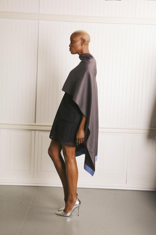 Lo Strato No. 01 Charcoal Gray/Sky Silk Wool