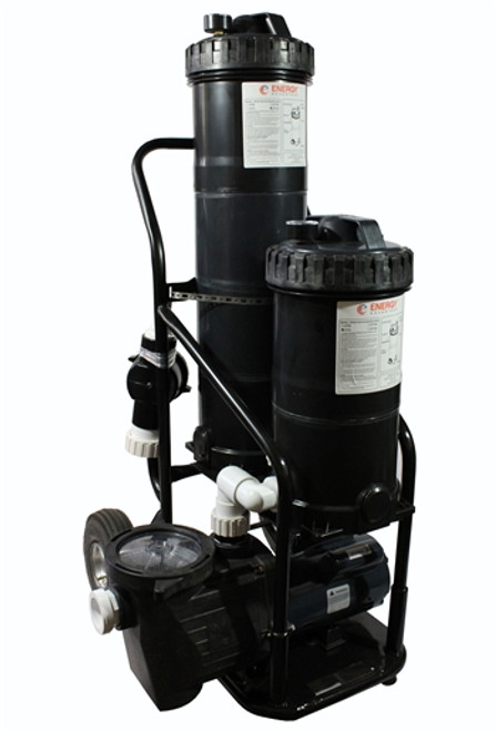 Commercial Portable Dual Pond Filter Vacuum System