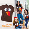 Turkey Face Thanksgiving T-Shirt Product Image