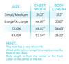 Lightweight Slub Cardigan Size Chart