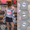 distress baseball with personalization charcoal cardigan