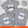 Distressed Basketball with Personalization T-Shirt