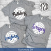 Distressed Volleyball with Personalization T-Shirt