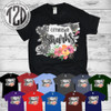 Floral White Washed Brick T-Shirt All Shirt Colors