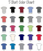 T-Shirt Color Chart