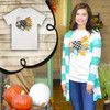 Patchwork Turkey T-Shirt Product Image Turquoise