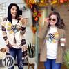Patchwork Turkey T-Shirt Product Image Mineral