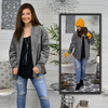 Corduroy Long Sleeve Button Up Top Lifestyle Image Grey