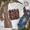 Reindeer Names Christmas Shirts Product Image