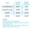 Lola Girl Cardigan Size Chart
