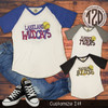 Patterned Home Plate Softball V-Neck