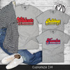 Retro Team T-Shirt Flat Image
