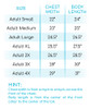 School Spirit Ombre' Long Sleeve Size Chart
