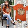 Sassy Autumn Leopard Pumpkin T-Shirt Product Image