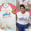 Cotton Tails and Bunny Trails Easter V-Neck